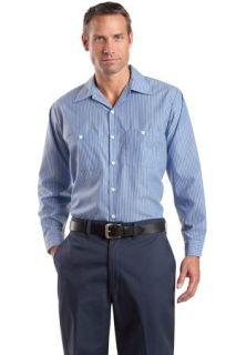 SanMar Red Kap CS10LONG, Red Kap® Long Size  Long Sleeve Striped Industrial Work Shirt.