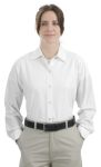 SanMar CornerStone CS15, CLOSEOUT CornerStone® - Ladies Long Sleeve Pocketless Gripper Shirt.