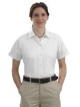 SanMar CornerStone CS25, CLOSEOUT CornerStone® - Ladies Short Sleeve Pocketless Gripper Shirt.