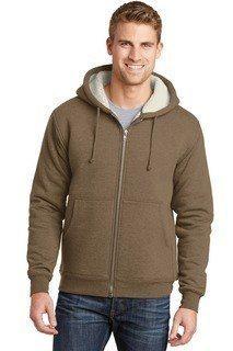 SanMar CornerStone CS625, CornerStone® Heavyweight Sherpa-Lined Hooded Fleece Jacket.