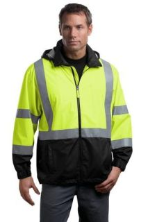 SanMar CornerStone CSJ25, CornerStone® - ANSI 107 Class 3 Safety Windbreaker.