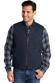 SanMar CornerStone CSV40, CornerStone® Washed Duck Cloth Vest.