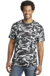SanMar District Made DT104C, District Made Mens Perfect Weight® Camo Crew Tee.