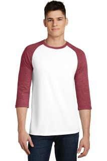SanMar District DT6210, District® Young Mens Very Important Tee® 3/4-Sleeve Raglan.