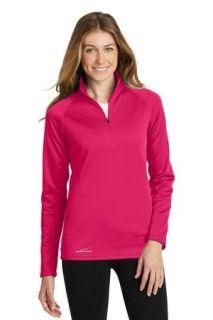 SanMar Eddie Bauer EB237, Eddie Bauer® Ladies 1/2-Zip Base Layer Fleece.