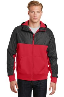 SanMar Sport-Tek JST50, Sport-Tek® Embossed Hybrid Full-Zip Hooded Jacket.