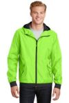 SanMar Sport-Tek JST53, Sport-Tek® Embossed Hooded Wind Jacket.