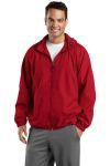SanMar Sport-Tek JST73, Sport-Tek® Hooded Raglan Jacket.
