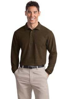 SanMar Port Authority K500LS, Port Authority® Silk Touch Long Sleeve Polo.