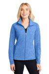 SanMar Port Authority L235, Port Authority® Ladies Heather Microfleece Full-Zip Jacket.