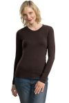 SanMar Port Authority L518 Port Authority® Ladies Modern Stretch Cotton Long Sleeve Scoop Neck Shirt.