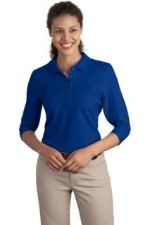 SanMar Port Authority L562, Port Authority® Ladies Silk Touch 3/4-Sleeve Polo.