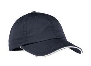 SanMar Port Authority LC830, Port Authority® Ladies Sandwich Bill Cap with Striped Closure.