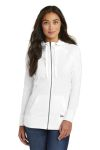 SanMar New Era LNEA122, New Era ® Ladies Sueded Cotton Blend Full-Zip Hoodie.