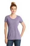 SanMar New Era LNEA130, New Era ® Ladies Tri-Blend Performance Scoop Tee.