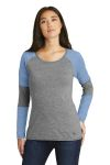 SanMar New Era LNEA132, New Era ® Ladies Tri-Blend Performance Baseball Tee.