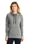 SanMar New Era LNEA510, New Era ® Ladies Tri-Blend Fleece Pullover Hoodie.