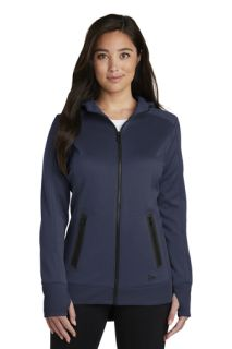 SanMar New Era LNEA522, New Era ® Ladies Venue Fleece Full-Zip Hoodie.
