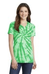SanMar Port & Company LPC147V, Port & Company® Ladies Tie-Dye V-Neck Tee.