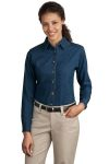 SanMar Port & Company LSP10, Port & Company® - Ladies Long Sleeve Value Denim Shirt.