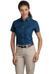 SanMar Port & Company LSP11, Port & Company® - Ladies Short Sleeve Value Denim Shirt.