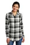 SanMar Port Authority LW668, Port Authority® Ladies Plaid Flannel Tunic .