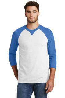 SanMar New Era NEA121, New Era ® Sueded Cotton Blend 3/4-Sleeve Baseball Raglan Tee.
