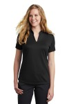 SanMar Nike NKAA1848, Nike Ladies Dri-FIT Hex Textured V-Neck Top.