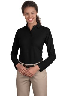 SanMar Port Authority L500LS, Port Authority® Ladies Long Sleeve Silk Touch Polo.