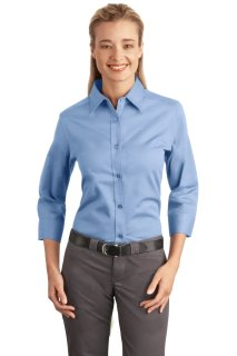 SanMar Port Authority L612, Port Authority® Ladies 3/4-Sleeve Easy Care Shirt.
