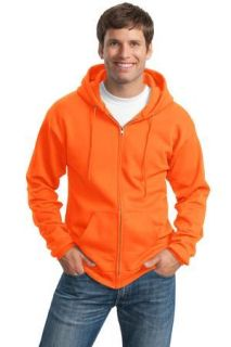 SanMar Port & Company PC90ZHT, Port & Company® Tall Essential Fleece Full-Zip Hooded Sweatshirt.