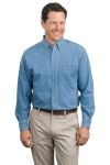 SanMar Port Authority S600 Port Authority® Long Sleeve Denim Shirt.