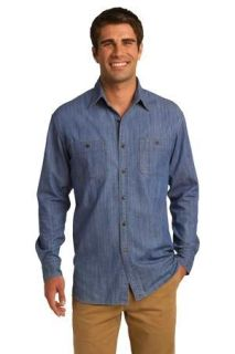 SanMar Port Authority S652, Port Authority® Patch Pockets Denim Shirt.