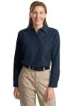 SanMar CornerStone SP13, CLOSEOUT CornerStone® - Ladies Long Sleeve Square Hem Industrial Work Shirt.