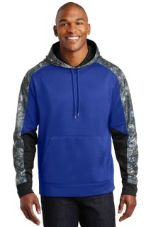 SanMar Sport-Tek ST231, Sport-Tek® Sport-Wick® Mineral Freeze Fleece Colorblock Hooded Pullover.