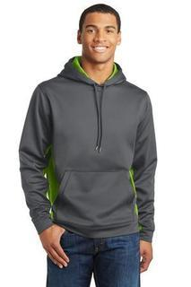 SanMar Sport-Tek ST239, Sport-Tek® Sport-Wick® CamoHex Fleece Colorblock Hooded Pullover.