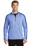 SanMar Sport-Tek ST397, Sport-Tek® PosiCharge® Electric Heather Colorblock 1/4-Zip Pullover.