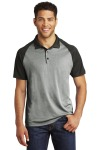 SanMar Sport-Tek ST641, Sport-Tek ® PosiCharge ® RacerMesh ® Raglan Heather Block Polo.