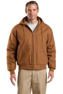 SanMar CornerStone TLJ763H, CornerStone® Tall Duck Cloth Hooded Work Jacket.