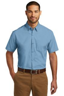 SanMar Port Authority W101, Port Authority® Short Sleeve Carefree Poplin Shirt.