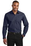 SanMar Port Authority W103, Port Authority ® Slim Fit Carefree Poplin Shirt.