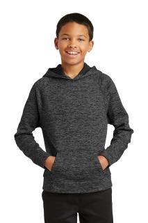 SanMar Sport-Tek YST225, Sport-Tek® Youth PosiCharge® Electric Heather Fleece Hooded Pullover.