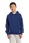 SanMar Sport-Tek YST265, Sport-Tek® Youth Sleeve Stripe Pullover Hooded Sweatshirt.