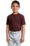 SanMar Sport-Tek YT210, Sport-Tek® Youth Short Sleeve Henley.