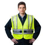"Snap N Wear 124CG ANSI Class 2 Breakway Safety Vest Printed ""Crossing Guard""  - Imported"