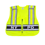 "Snap N Wear 124NY ANSI Class 2 Breakway Safety Vest Printed ""NYPD""  - Imported"