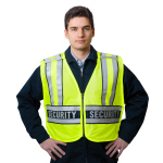 "Snap N Wear 124SC ANSI Class 2 Breakway Safety Vest Printed ""Security""  - Imported"