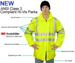 Snap N Wear 9003-I ANSI Class 3 Compliant Parka - Imported