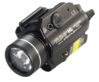 Streamlight TLR-2_HL TLR-2  HL with Laser Includes Rail Locating Keys for Glock style, 1913 Picatinny, S&W 99/TSW, and Beretta 90two. Lithium batteries. Boxed.