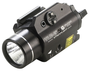 """StreamLight Tlr-2g Tlr-2 """" With Green Laser Includes Rail Locating Keys For Glock Style, 1913 Picatinny, S&W 99/Tsw, And Beretta 90two. Lithium Batteries. Boxed."""